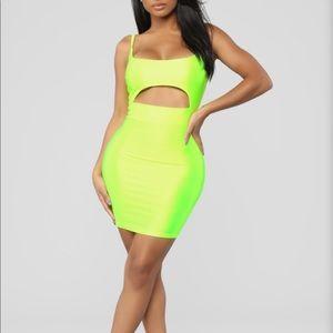 Fashion nova neon dress